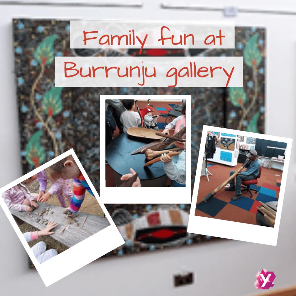 image of family fun at Burrunju gallery