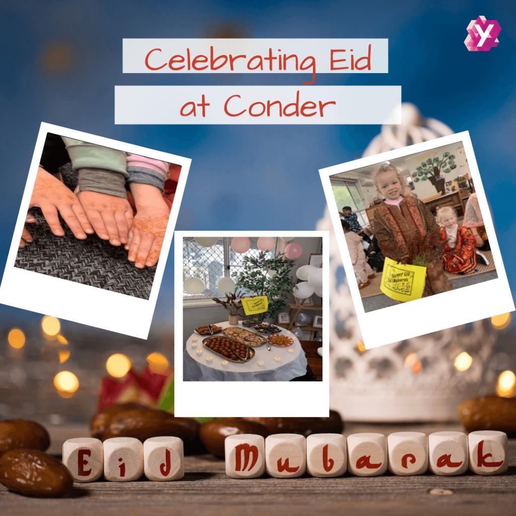 children at Conder celebrating Eid