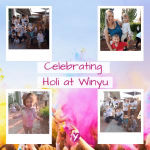 images of children celebrating holi day